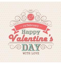 Valentines day emblem vector image