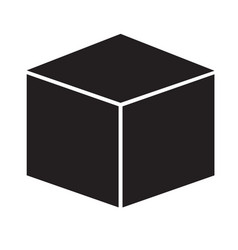 Cube icon on white background cube sign vector