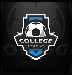Football logo template vector