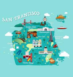 map of san francisco vector image vector image