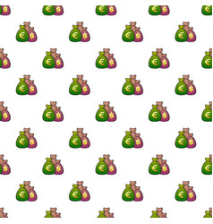 money bag pattern vector image