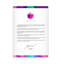Visual identity with letter logo elements vector image