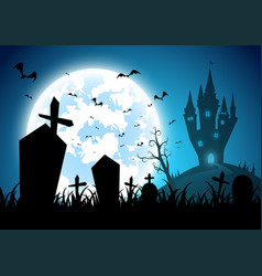 backgroundfestival halloweenfull moon on dark vector image