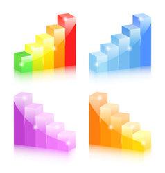 Bar graphs vector image vector image