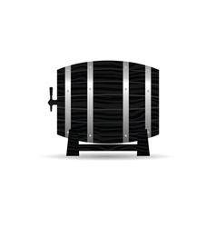 barrel wooden strong in black color vector image