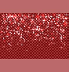 christmas holiday snowfall and sparkle snowflakes vector image