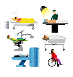 hospital patients of dentist surgeon mri medical vector image
