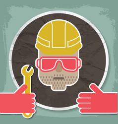 Portrait of a mechanic vector
