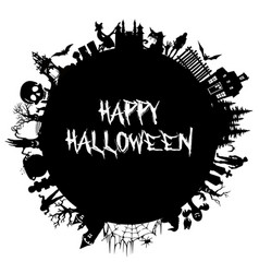 set of silhouettes for halloween halloween party vector image vector image