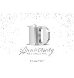 10 years anniversary celebration vector