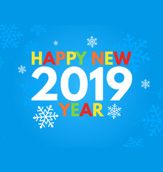 2019 new year on the blue background design for vector image