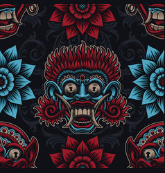A seamless background for asian theme vector