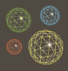 Abstract geometric sphere collection vector