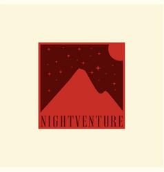 adventure mountain vector image