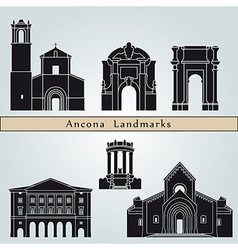 Ancona landmarks and monuments vector image
