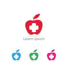 apple icon healthy food weight loss icon vector image