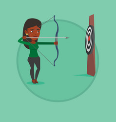 Archer training with the bow vector
