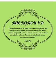 Background frame green vector