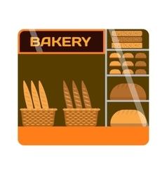 Bakery shop showcase vector image