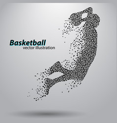 Basketball player triangles vector