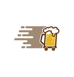 Beer delivery logo icon design vector