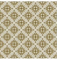 Beige damask seamless pattern background vector