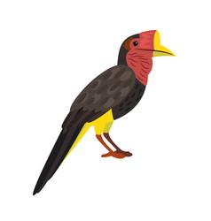 Bird with big beak vector