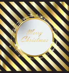 Black christmas background with golden stripes vector