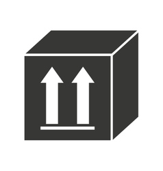 box carton silhouette icon vector image