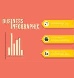 Business infographic graph and icon vector