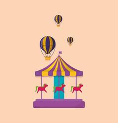 carnival carousel icon vector image