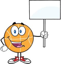 Cartoon basketball vector image