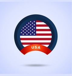 circle american flag image american flag vector image