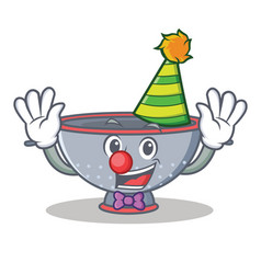 Clown colander utensil character cartoon vector
