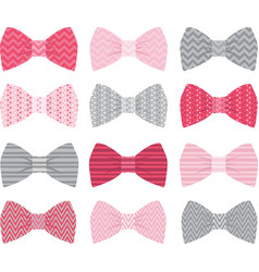 Cute Pink Bow Tie Collection vector image