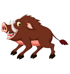 cute wild boar cartoon vector image