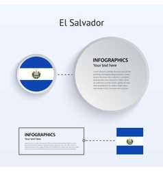 El Salvador Country Set of Banners vector