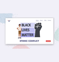ethnic conflict landing page template african vector image
