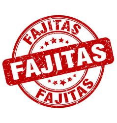 fajitas stamp vector image vector image