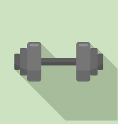 fitness barbell icon flat style vector image