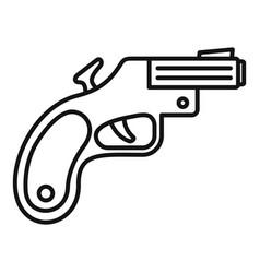 Flare gun icon outline style vector