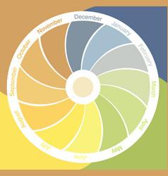 Four seasons clock vector