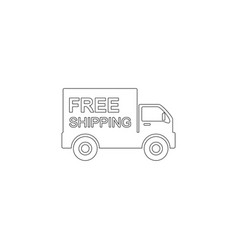 Free delivery flat icon vector