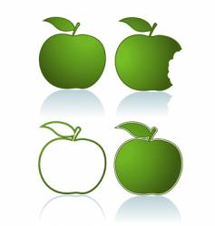 green apples vector image