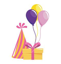 happy birthday and celebration gift design vector image