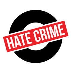 Hate crime typographic stamp vector