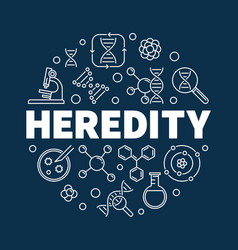 Heredity round in outline vector