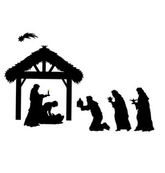 holiday silhouettes christmas sages bowed to vector image