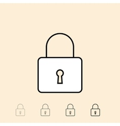 icon of padlock vector image