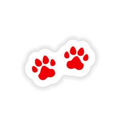 Icon sticker realistic design on paper traces vector
